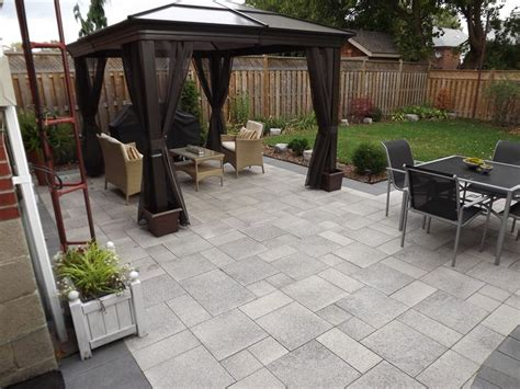 Paving Ideas For Backyards by 25 Best Ideas About Unilock Pavers On Pavers