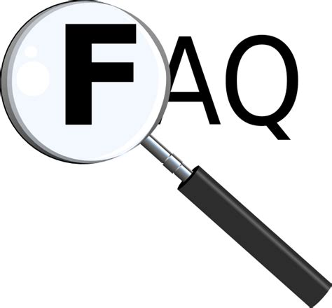 Faq With Magnifying Glass Clip Art Clker Vector