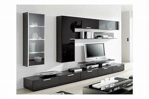 Meuble Tv Noir Ikea : amazing meuble tv vitre noir mueble a medida moderno con fondo il divano home with meuble tv ~ Teatrodelosmanantiales.com Idées de Décoration