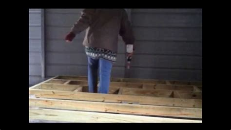 building  raised wood floor youtube