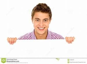 Man Holding Blank Poster Stock Photo - Image: 16589310
