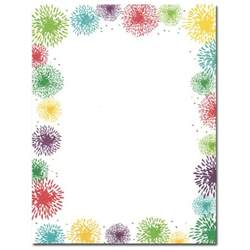 themed sheets colorful fireworks patriotic border paper your paper stop