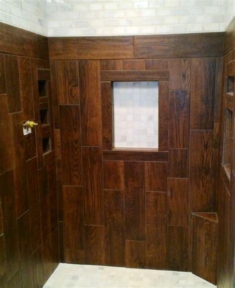 shower stall ceramic tile    wood