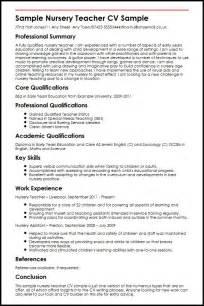 curriculum vitae for graduate template sle nursery teacher cv sle myperfectcv