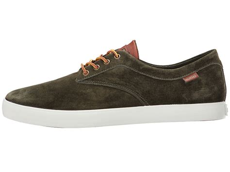 Huf ανδρικό Low Top Sneaker Sutter λαδί