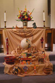 altar guild decorated  church  pentecost