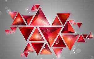 Triangle cube 3D looks abstract background HD Wallpapers