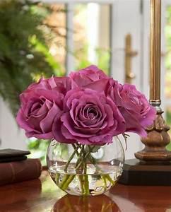 Rose In Glas : 1000 images about artificial floral arrangements on pinterest casablanca floral arrangements ~ Frokenaadalensverden.com Haus und Dekorationen