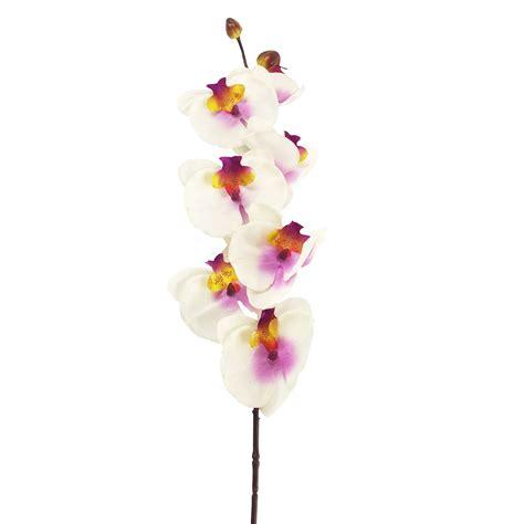 Long Stemmed Eco Orchid Stem  Artificial Fake Flowers Phalaenopsis Cattleya Ebay