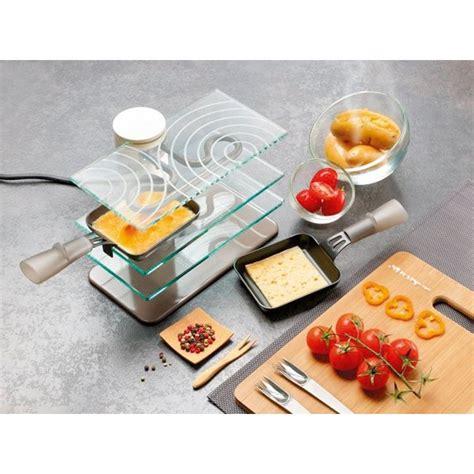 appareil cuisine conviviale appareil à raclette transparent 2 personnes lagrange