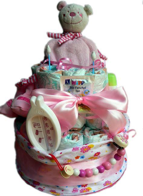 selbstgebastelte geschenke zur taufe hochwertige windeltorte f 252 r m 228 dchen rosa geschenke zur taufe babyparty ebay