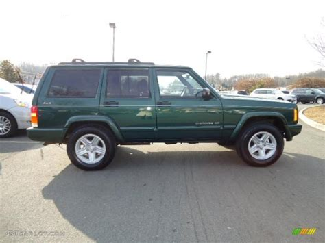 jeep cherokee green 2000 2000 forest green pearl jeep cherokee limited 4x4