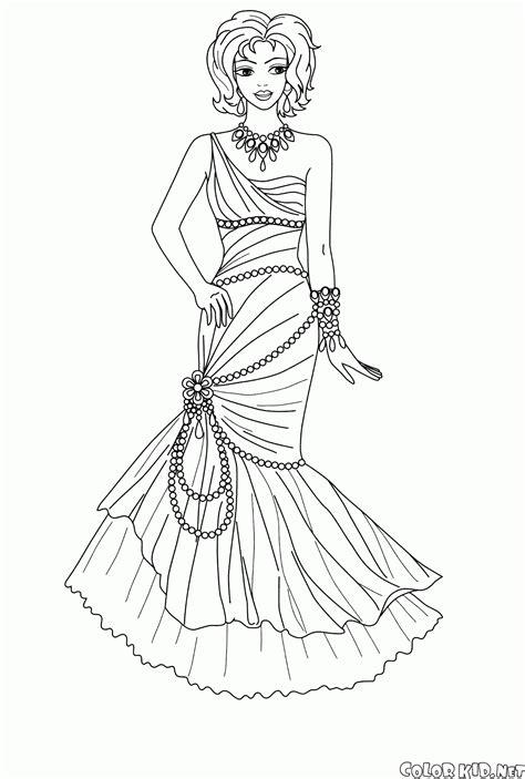 Un disegno di barbie principessa da stampare gratuitamente e da colorare, per la gioia delle bambine! Disegni da colorare - Principessa Angelica