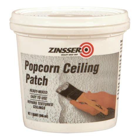 popcorn ceiling repair shop zinsser popcorn ceiling patch 32 fl oz white popcorn