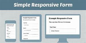 how to make simple responsive form using css html formget With responsive stylesheet template