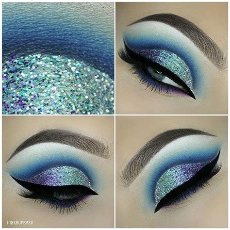 rock blue makeup   blue makeup ideas