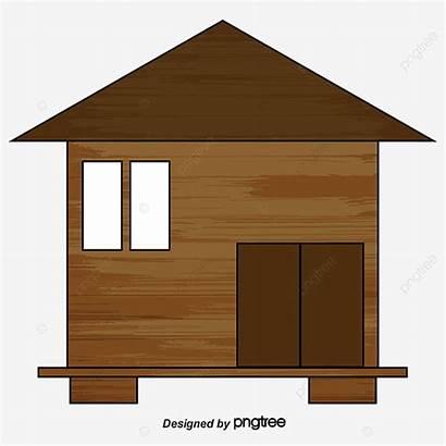 Hut Cartoon Cabane Clipart Dessin Cabin Humble