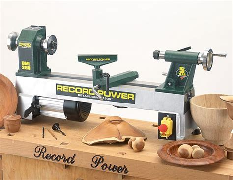 record power  dml cast iron  mini lathe