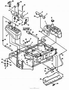 Bunton  Bobcat  Ryan 942233e Zt 225 25hp Kaw W  61 Side Discharge Parts Diagram For Fuel Tanks