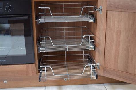 wire storage baskets for kitchen cabinets kitchen cabinet cupboard pull out wire storage basket