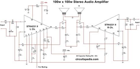 stk ii ww stereo audio amplifier circuit