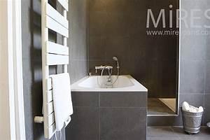 salle de bain gris ardoise spot meuble salle de bain led With carrelage adhesif salle de bain avec full led peugeot