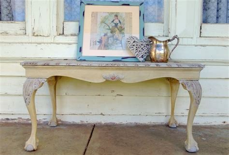diy shabby chic coffee table diy painted ball and claw foot shabby chic coffee table chalk paint pinterest queen anne