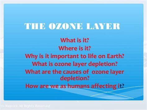 why is ozone an important form of oxygen ozone layer depletion