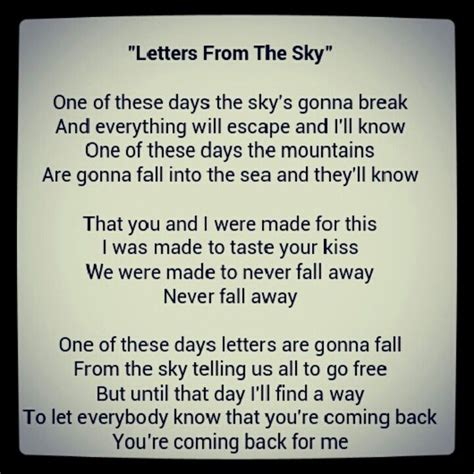 letters from the sky lyrics letters from the sky lyrics levelings