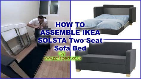 ikea solsta ullvi  seat sofa bed assembly youtube
