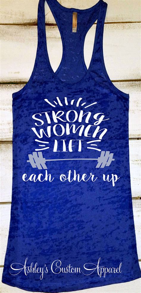 womens fitness tank top strong women inspirational