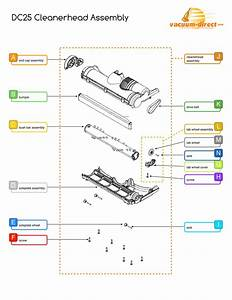 Dyson Dc25 Cleanerhead Assembly Parts Diagram
