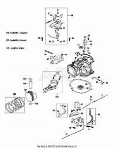 Troy Bilt 5x65ru Engine Parts Diagram For 5x65ru Crankcase