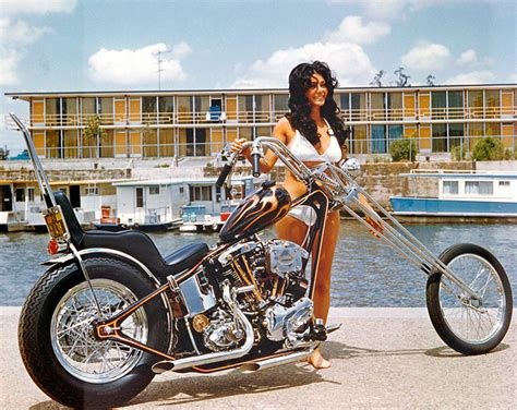 Vintage Chopper Chicks Motorcycle Pin-up Girls