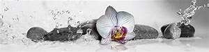Glasbilder Xxl Küche : xxl wandbild exklusiv mit wei er orchidee steine schwarz wei bunt 200x50cm ~ Sanjose-hotels-ca.com Haus und Dekorationen