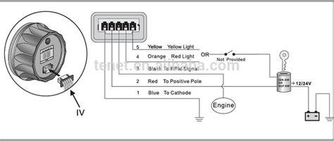 Vdo Marine Hour Meter Wiring Diagram by Analog Rpm Meter Tachometer Waterproof Tachometer Hour