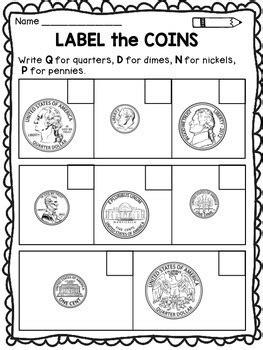 Money Worksheets Identifying Coins By Dana's Wonderland Tpt