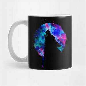 Howling Wolf Moon Space Galaxy Drips Hipster Trend Gift