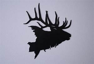 Bull Elk Head Metal Silhouette 11 x 12 by metalacres on Etsy