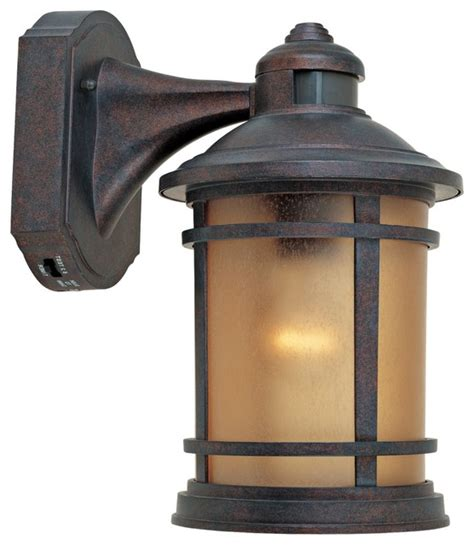 traditional sedona motion sensor 7 quot wide patina outdoor