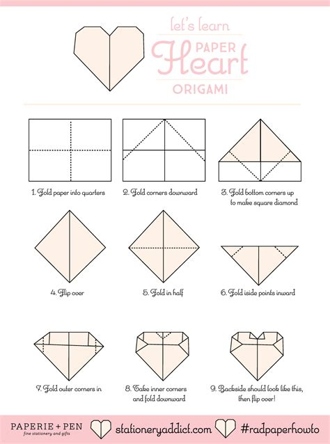 lets learn paper heart origami