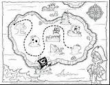 Treasure Map Drawing Pirate Coloring Getdrawings sketch template