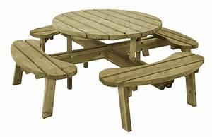 best table de jardin ronde avec banc pictures awesome With banc en teck pour jardin 14 table pique nique avec bancs en teck massif et pieds en