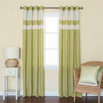Grommet Linen Curtains Curtain Panels Striped Heavyweight