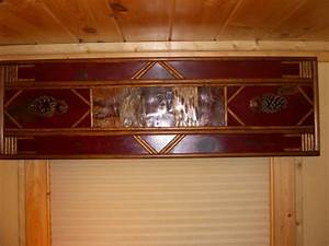 Worn Red Cornice Board Rustic Window TreatmentsCornice