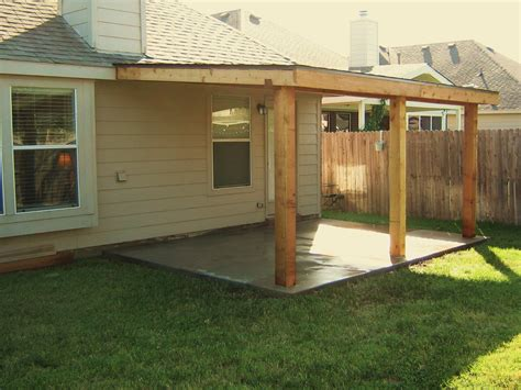 cedar patio cover 10 x16 basic model home and lawn