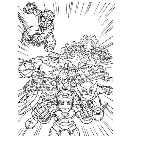 Kleurplaten Marvel by Squad Kleurplaten Kleurplatenpagina Nl
