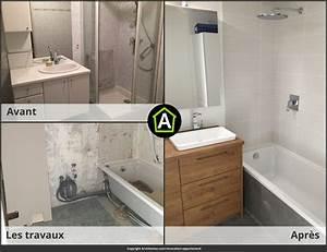 Rénovation Salle De Bain Avant Après : r novation d 39 appartement prix photos avant apr s ~ Dallasstarsshop.com Idées de Décoration