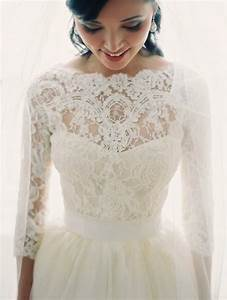 30 gorgeous lace sleeve wedding dresses for Lacy wedding dresses
