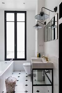 Meuble Salle De Bain Retro Chic : ides de salle de bain retro chic galerie dimages ~ Teatrodelosmanantiales.com Idées de Décoration